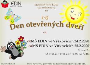 Den otevřených dveří v MŠ EDIN